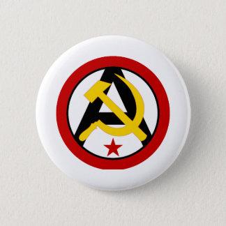 Anarcho共産主義のロゴ 5.7cm 丸型バッジ
