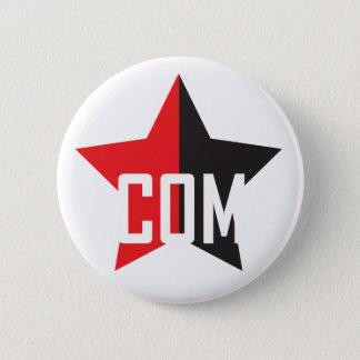 Anarcho共産主義の星 5.7cm 丸型バッジ