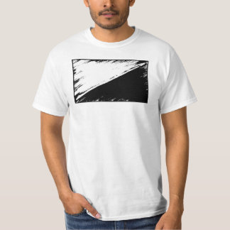 Anarcho平和主義の旗のTシャツ Tシャツ