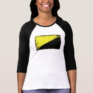 Anarcho資本家の旗3/4の袖のTシャツ Tシャツ
