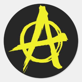 Anarcho資本家の無秩序の記号のステッカー ラウンドシール