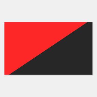 Anarcho Syndicalistの旗のステッカー 長方形シール