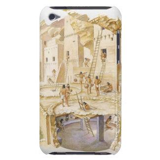 Anasaziの崖の断面イラストレーション Case-Mate iPod Touch ケース