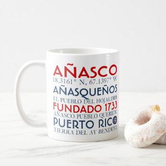 Anasco、プエルトリコ コーヒーマグカップ