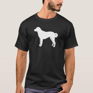 Anatolian羊飼い犬のシルエット Tシャツ