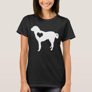 Anatolian羊飼い犬のハートの暗闇のTシャツ Tシャツ
