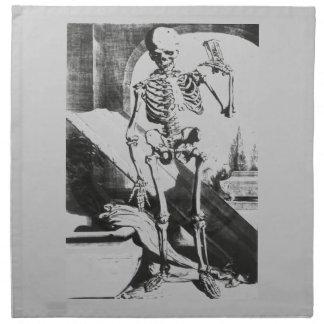 Anatomia Humani Corporisからの骨組 ナプキンクロス