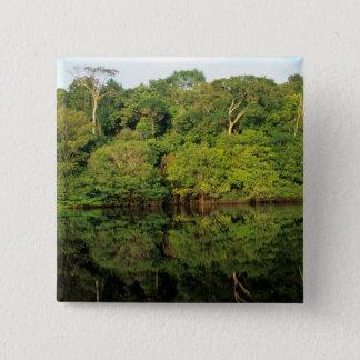 Anavilhanas、Amazonas、ブラジル。 雨林の川 5.1cm 正方形バッジ