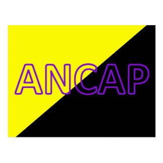 ANCAPの色及び文字の旗 ポストカード