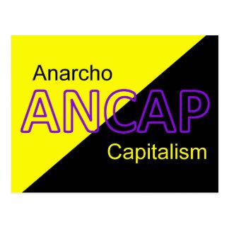 ANCAPの黄色および黒い旗 ポストカード