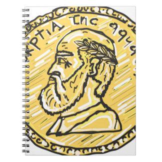 Anchientの硬貨のスケッチ ノートブック