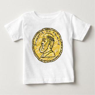 Anchientの硬貨のスケッチ ベビーTシャツ