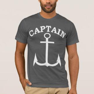 Anchor Blackか白いの大尉アメリカの服装 Tシャツ