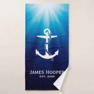 Anchor with Rope   Personalizable Nautical Gifts バスタオルセット