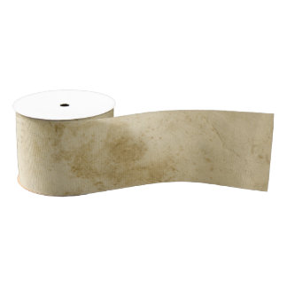 Ancient Rustic Stained Antique Blank Old Paper グログランリボン