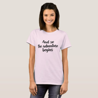 And So The Adventure Begins, Retirement Travel Tee Tシャツ
