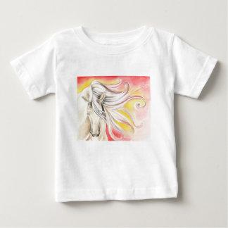Andalusian日光の馬 ベビーTシャツ