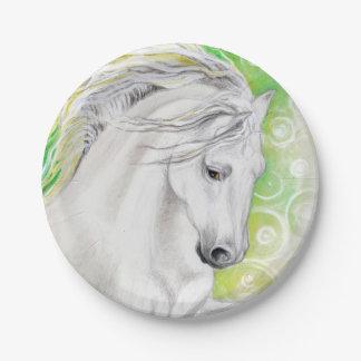 Andalusian馬の緑 ペーパープレート