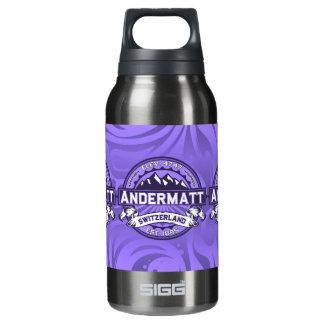 Andermattのロゴのバイオレット 断熱ウォーターボトル