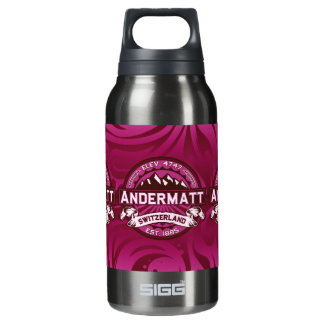 Andermattのロゴのラズベリー 断熱ウォーターボトル