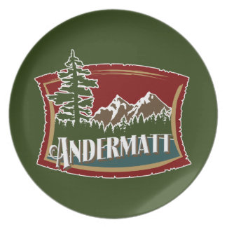 Andermatt山の旗 パーティープレート
