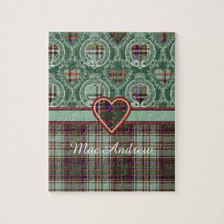 Andisonの一族の格子縞のスコットランドのキルトのタータンチェックのパズル ジグソーパズル