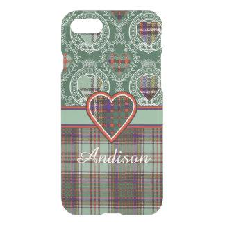Andisonの一族の格子縞のスコットランドのキルトのタータンチェック iPhone 8/7 ケース