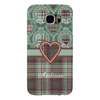 Andisonの一族の格子縞のスコットランドのキルトのタータンチェック Samsung Galaxy S6 ケース