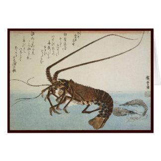 Ando Hiroshigeシートのロブスターおよびエビ カード