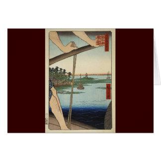 Ando HiroshigeシートBentenの寺院 カード
