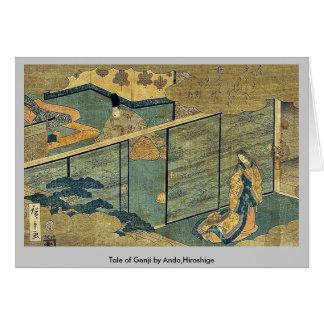 Ando、Hiroshige著Genjiの物語 カード