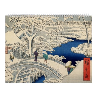Ando Hiroshige著Meguroのドラム橋、 カレンダー