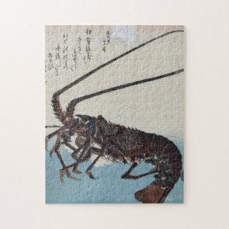 Ando Hiroshige -エビおよびロブスター ジグソーパズル