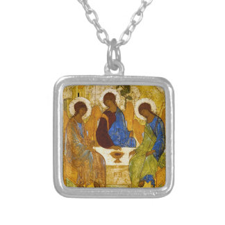 """Andrei Rublev , """" Holy Trinity """" シルバープレートネックレス"""