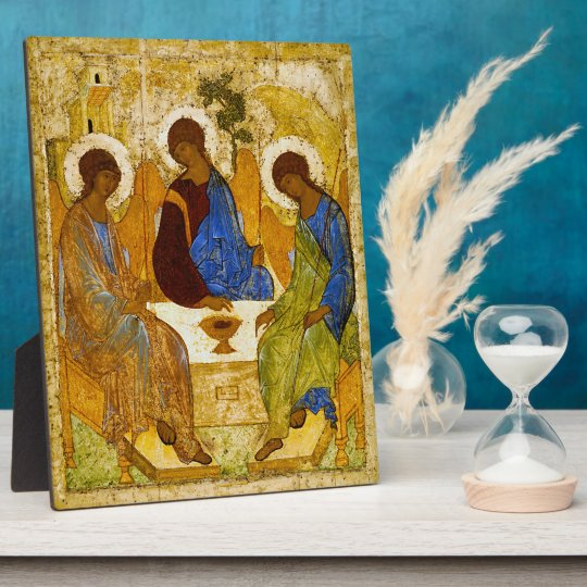 "Andrei Rublev , "" Holy Trinity "" フォトプラーク"