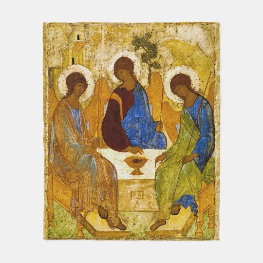 Andrei Rublev, icon of the Trinity フリースブランケット