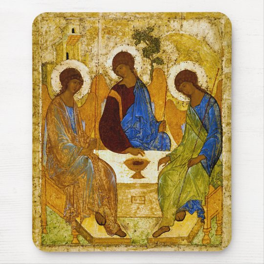 Andrei Rublev, icon of the Trinity マウスパッド