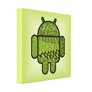 Android™のためのペイズリーの落書きのキャラクター キャンバスプリント