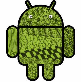 Android™のためのペイズリーの落書きのキャラクター 写真彫刻マグネット
