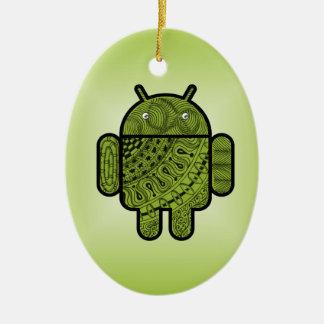 Android™のためのPanchoの落書き セラミックオーナメント