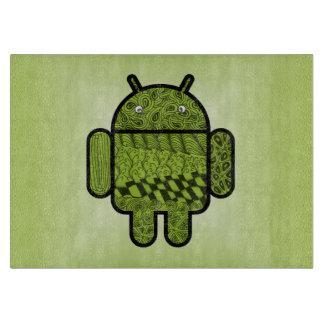 Android™のロボットのためのペイズリーのキャラクター カッティングボード