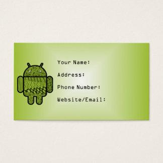 Android™のロボットのためのペイズリーのキャラクター 名刺