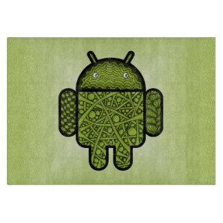 Android™のロボットのための泡落書きのキャラクター カッティングボード