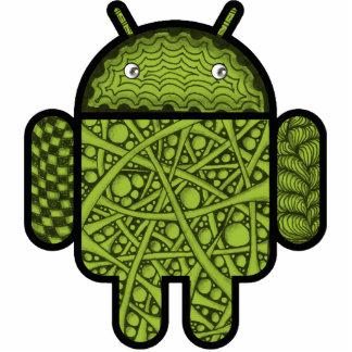 Android™のロボットのための泡落書きのキャラクター 写真彫刻マグネット