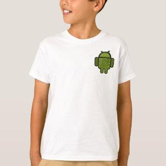 Android™のロボットのための泡落書きのキャラクター Tシャツ