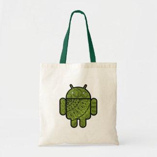 Android™のロボットのためのPanchoの落書きのキャラクター トートバッグ