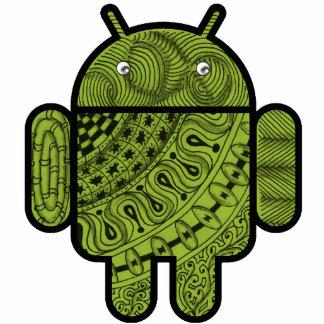 Android™のロボットのためのPanchoの落書きのキャラクター フォトスカルプチャー