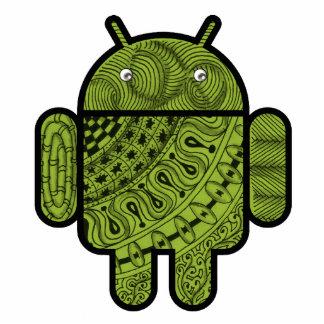 Android™のロボットのためのPanchoの落書きのキャラクター 写真彫刻マグネット