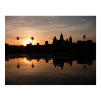 angkorの太陽の反射 ポストカード