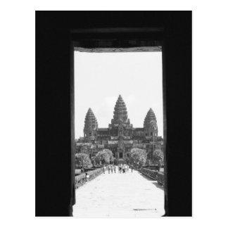 Angkorカンボジア、アンコール・ワットの戸口の眺め2 ポストカード